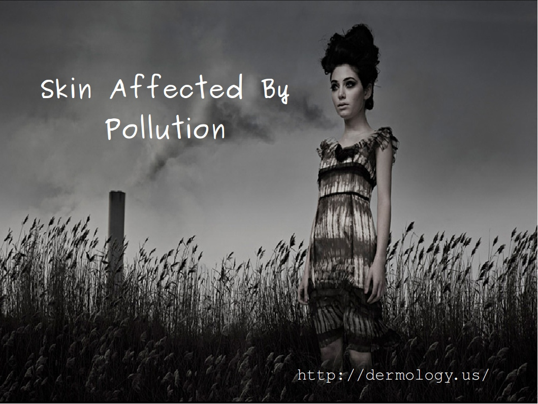 skin affected by pollution